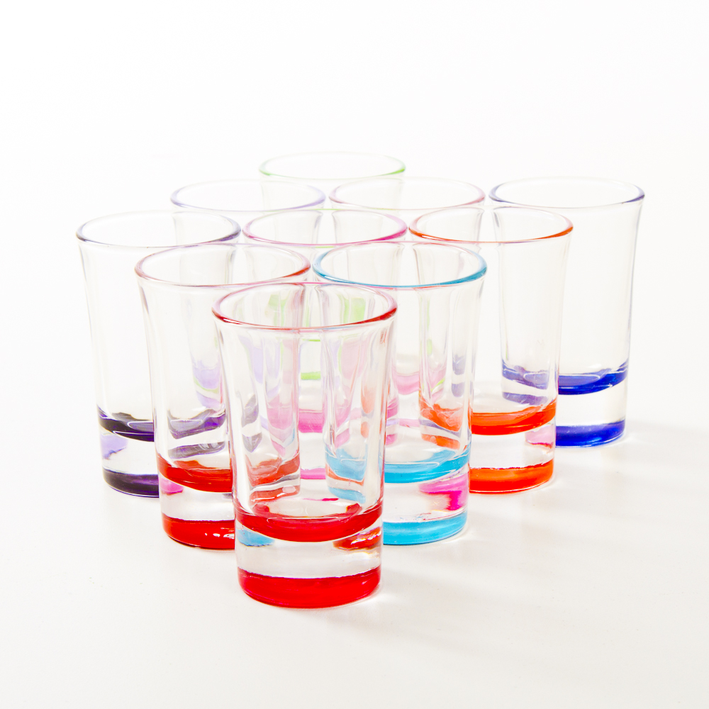 Personalized 2oz Coloured Shot Glass - Wedding Favours Canada Online